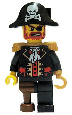 Pirate Loose Mini Figure Pirate Captain