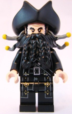 Blackbeard Lego Pirates Of The Caribbean Minifigure